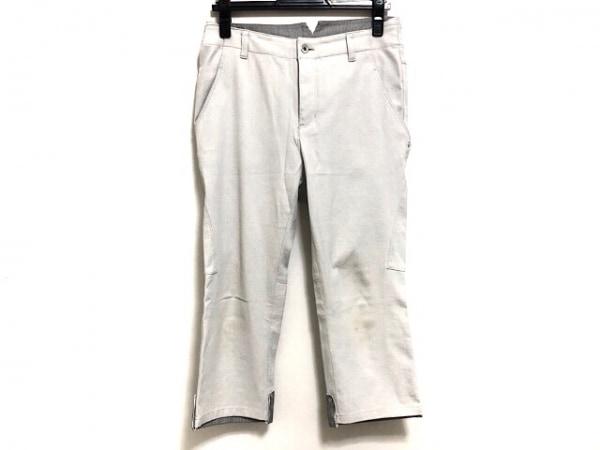 ヒロココシノ パンツ サイズ40 M レディース美品  ライトグレー×黒×白 TRUNK
