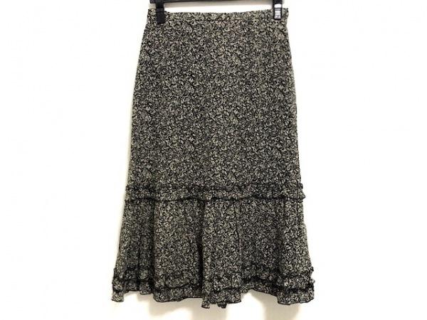 23区(ニジュウサンク) スカート サイズ40 M レディース美品  黒×ライトベージュ