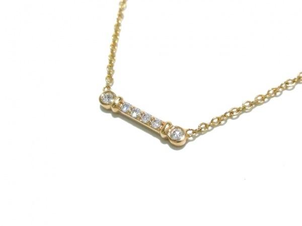 ティファニー ネックレス美品  - K18PG×ダイヤモンド 6Pダイヤ 1