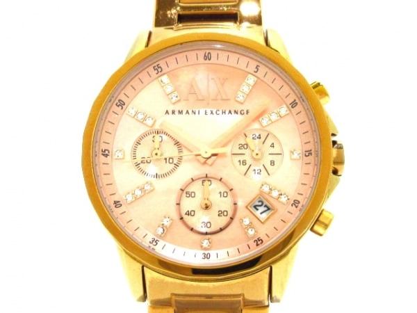ARMANIEX(アルマーニEX) 腕時計 AX4326 レディース シェルピンク
