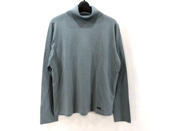 バーバリーロンドン 長袖セーター サイズ5 XS レディース美品  グレーグリーン