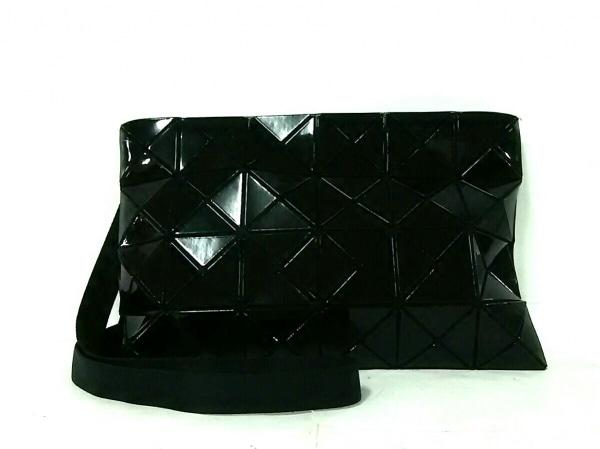 バオバオイッセイミヤケ ショルダーバッグ美品  黒 PVC(塩化ビニール)×ポリエステル