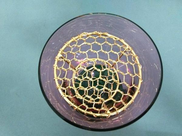 WAKO(ワコー) 食器新品同様  クリアパープル×クリアグリーン ガラス