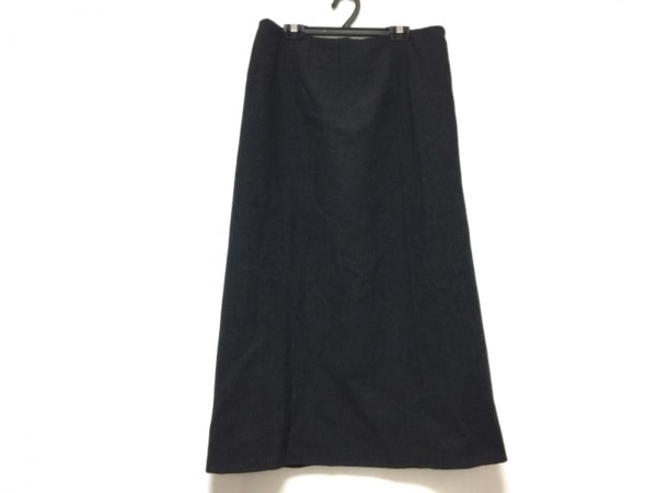 レキップ ヨシエイナバ 巻きスカート サイズ11 M レディース ダークグレー ロング丈