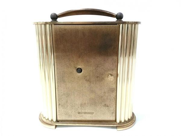 WAKO(ワコー) 小物 クリア×ゴールド×白 置時計(動作確認できず) ガラス×金属素材