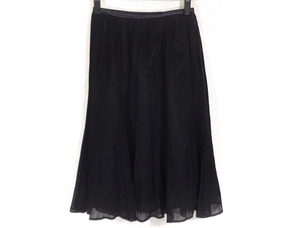 Leilian(レリアン) ロングスカート サイズ11 M レディース 黒 プリーツ/ラメ