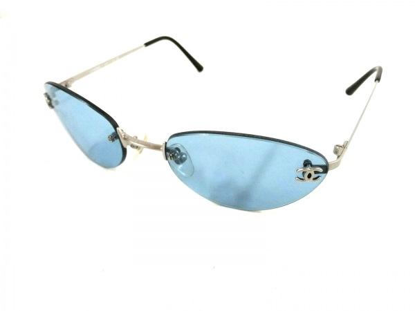 CHANEL(シャネル) サングラス美品  4003 c103/72 ブルー×シルバー×黒 ココマーク