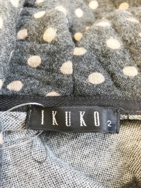 IKUKO(イクコ) ワンピース サイズ2 M レディース美品  ダークグレー×ベージュ