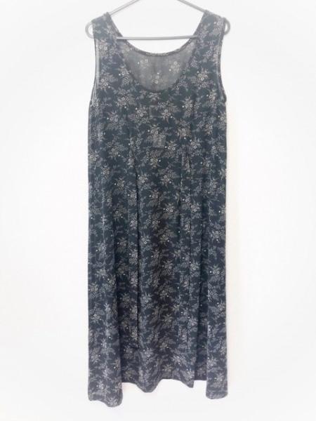 IKUKO(イクコ) ワンピース レディース 黒×アイボリー シースルー/花柄
