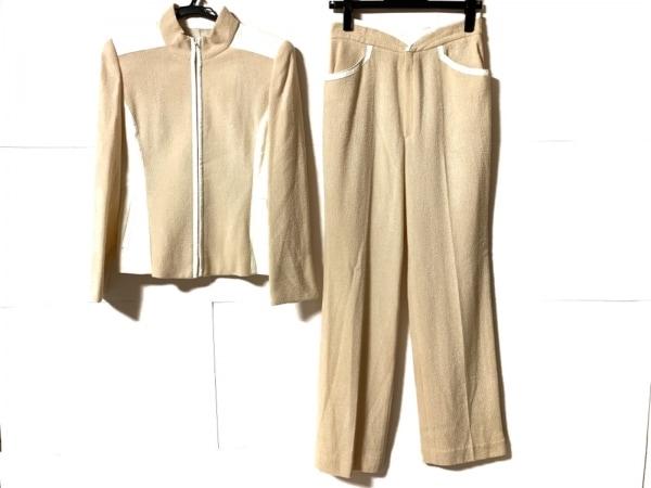 ignes(イグネス) レディースパンツスーツ サイズ40 M レディース美品  アイボリー×白