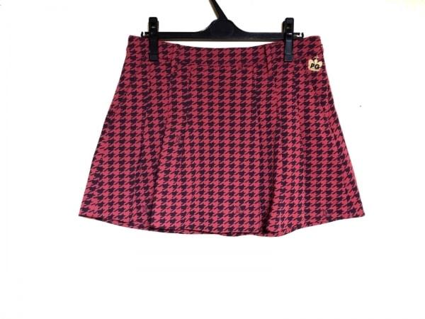 パーリーゲイツ ショートパンツ サイズ2 M レディース ピンク×ダークネイビー