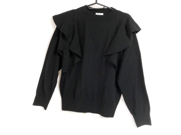 FRAY I.D(フレイアイディー) 長袖セーター サイズF レディース美品  黒 フリル