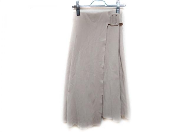 ミラオーウェン ロングスカート サイズ0 XS レディース ピンクベージュ ニット