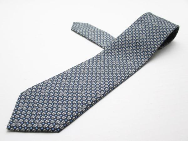 LOUIS VUITTON(ルイヴィトン) ネクタイ メンズ美品  黒×グレー×ブルー
