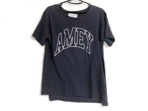 AMERICANA(アメリカーナ) 半袖Tシャツ レディース ネイビー×白