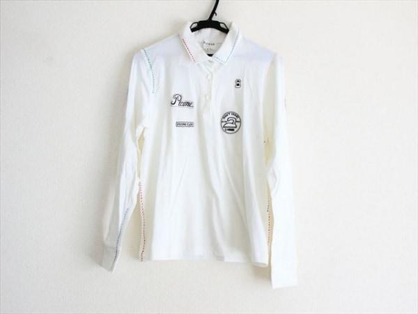 PICONE(ピッコーネ) 長袖ポロシャツ サイズ2 M レディース 刺繍