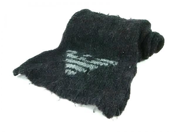 EMPORIOARMANI(エンポリオアルマーニ) マフラー 黒 ウール×化学繊維