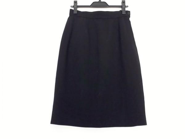 GIORGIOARMANI(ジョルジオアルマーニ) スカート サイズ40 M レディース美品  黒