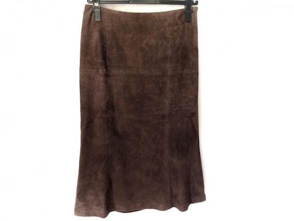 バーバリーロンドン ロングスカート サイズ38 L レディース美品  ダークブラウン