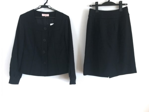 LAURAASHLEY(ローラアシュレイ) スカートスーツ サイズ9 M レディース 黒