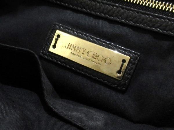 JIMMY CHOO(ジミーチュウ) ハンドバッグ サラS 黒 スター/型押し加工 レザー