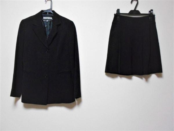 22OCTOBRE(ヴァンドゥ オクトーブル) スカートスーツ レディース 黒 3点セット