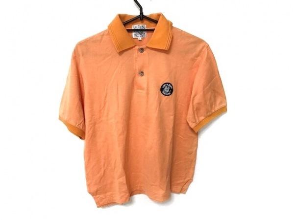 シナコバ 半袖ポロシャツ サイズ S S レディース美品  オレンジ×ネイビー×マルチ