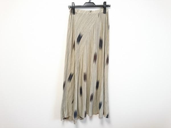 JURGEN LEHL(ヨーガンレール) ロングスカート レディース美品  ベージュ×黒