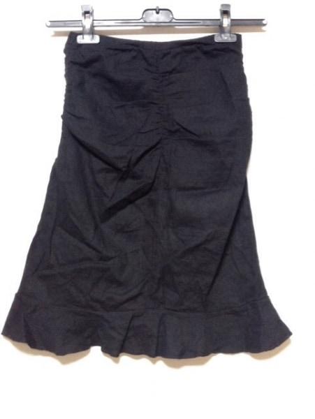 ANNA MOLINARI(アンナモリナーリ) スカート サイズ38 S レディース 黒 シャーリング