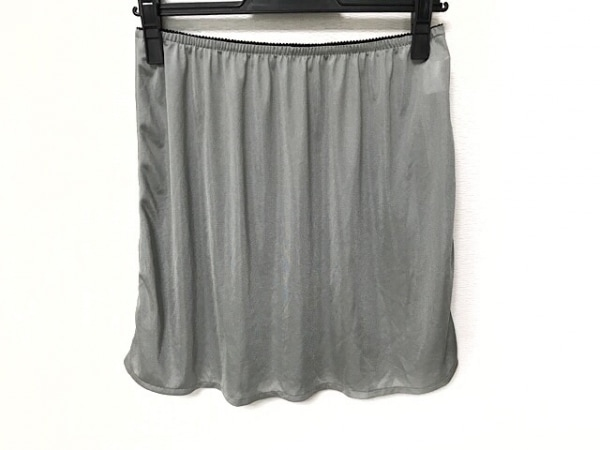 HIROKO BIS(ヒロコビス) スカート サイズ13 L レディース グレー×黒