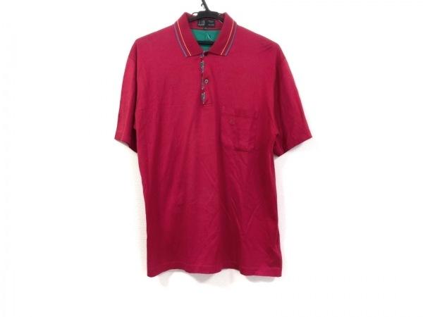 ダンヒル 半袖ポロシャツ サイズ42 L メンズ レッド×ブルー×マルチ