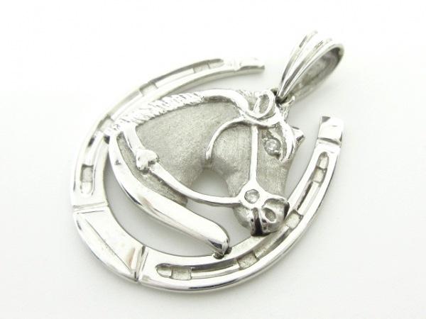 ノーブランド ペンダントトップ K18WG×ダイヤモンド クリア 総重量:7.5g/003刻印
