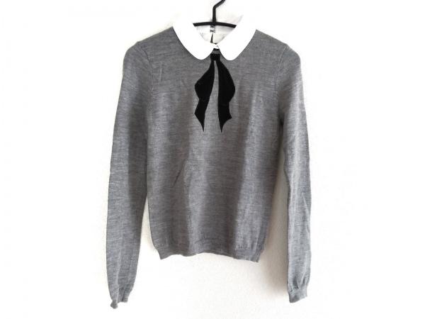alice+olivia(アリスオリビア) 長袖セーター レディース グレー×黒 リボン