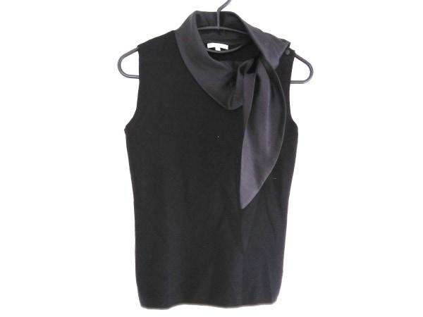 TO BE CHIC(トゥービーシック) ノースリーブセーター サイズ2 M レディース 黒 リボン