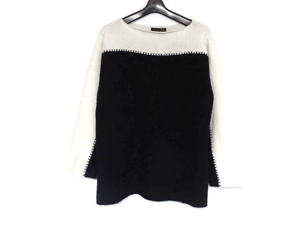 ダーマコレクション 長袖セーター サイズ3L レディース美品  ネイビー×アイボリー