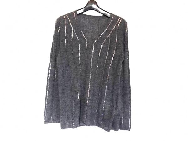 ダーマコレクション 長袖セーター サイズ3L レディース美品  グレー×シルバー