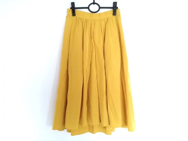 wb(ダブリュービー) ロングスカート サイズ38 M レディース美品  イエロー