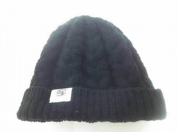 KASHWERE(カシウエア) ニット帽 黒 ポリエステル