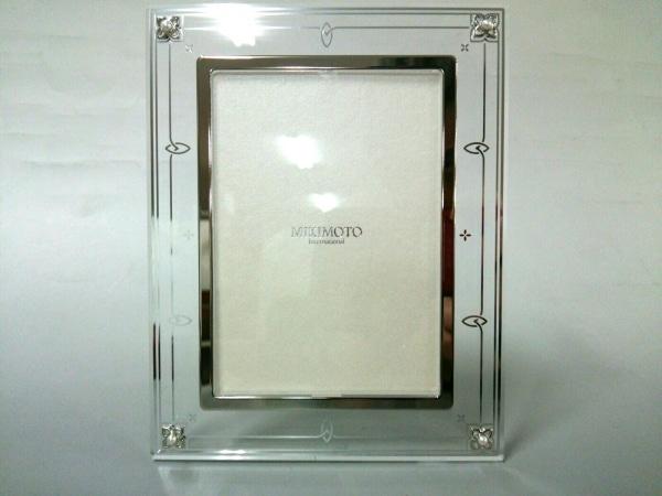 mikimoto(ミキモト) 小物新品同様  クリア×シルバー パール/フォトスタンド