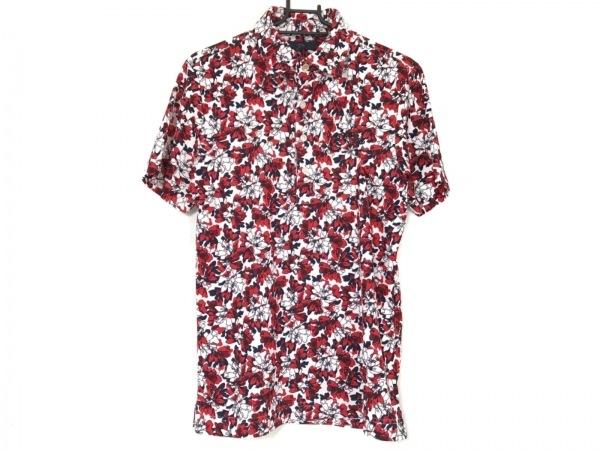 キャロウェイ 半袖ポロシャツ サイズM メンズ美品  白×レッド×マルチ 花柄