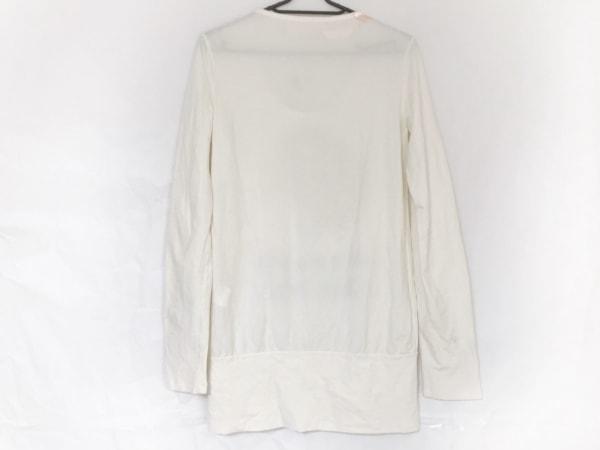 galliano(ガリアーノ) 長袖Tシャツ サイズXS レディース美品  白×ゴールド ラメ