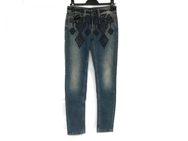 ジャストカヴァリ ジーンズ サイズ25 XS レディース美品  ブルー デニム/刺繍