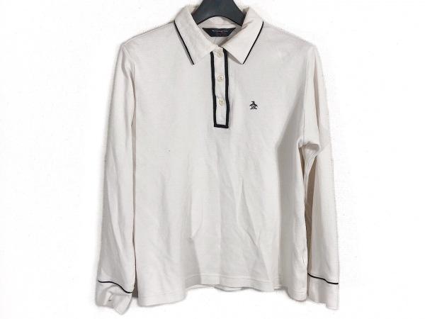 Munsingwear(マンシングウェア) 長袖ポロシャツ サイズL レディース ライトグレー×黒