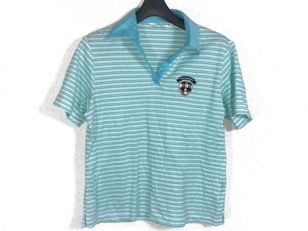 Munsingwear(マンシングウェア) 半袖ポロシャツ サイズL レディース ボーダー