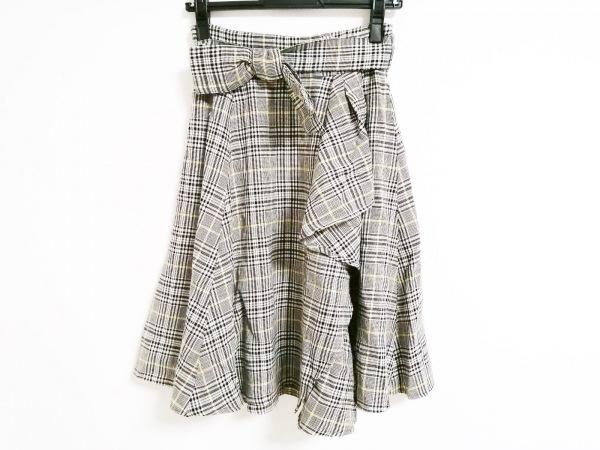 アプワイザーリッシェ ロングスカート サイズ1 S レディース チェック柄/ラメ
