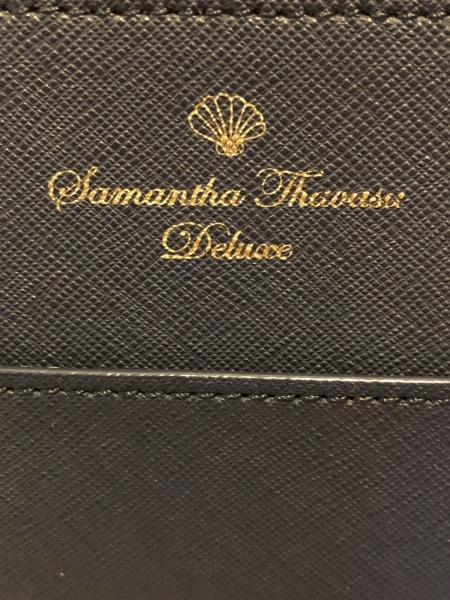 サマンサタバサデラックス ショルダーバッグ美品  ネイビー 合皮