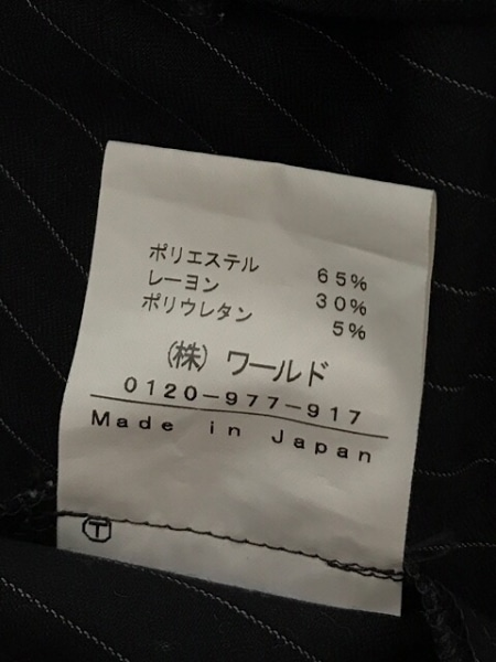 インディビ レディースパンツスーツ サイズ38 M レディース 黒×白 ストライプ