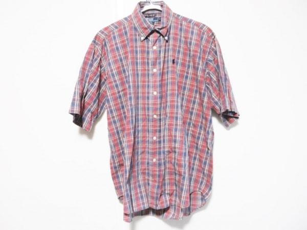 ポロラルフローレン 半袖シャツ サイズS メンズ ネイビー×レッド×マルチ チェック柄