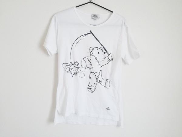 ヴィヴィアンウエストウッドマン 半袖Tシャツ サイズ44 L メンズ 白×黒