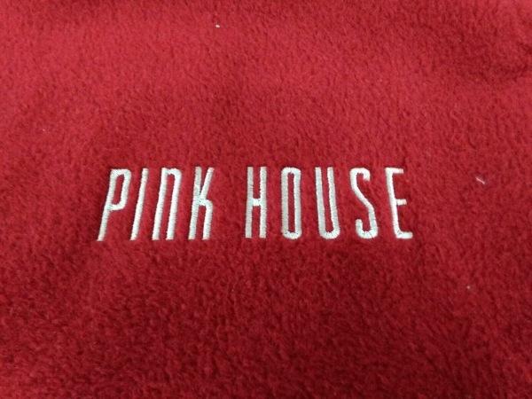 PINK HOUSE(ピンクハウス) ブランケット美品  レッド×白 化学繊維